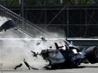 Видео аварии Роберта Кубицы, Формула-1, Монреале, 2007.