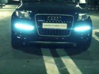 Нелегальные гонки Audi Q7 V12 TDi по МКАД.